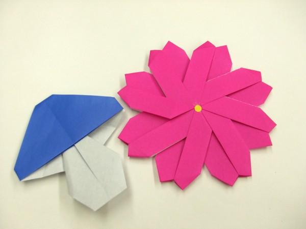 ハート 折り紙 コスモス折り紙作り方 : divulgando.net