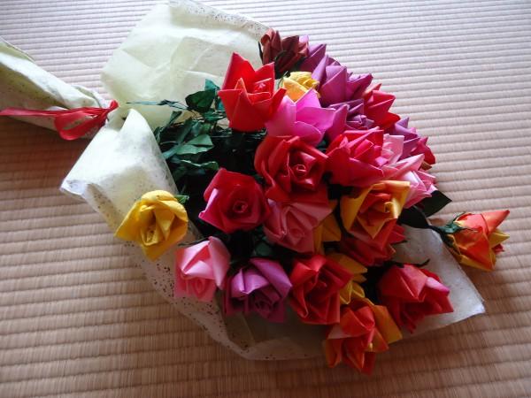 ハート 折り紙 折り紙 バラの花 : divulgando.net