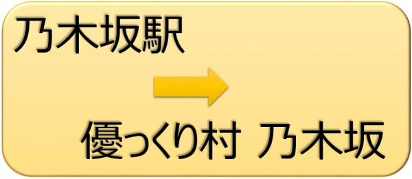 優っくり村道順(乃木坂から)